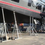 Fixed - Tilt Cradles for sailing boats and big motor-boats