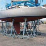 Cavalletto a inclinazione regolabile doppia per tutti i tipi di barche a vela
