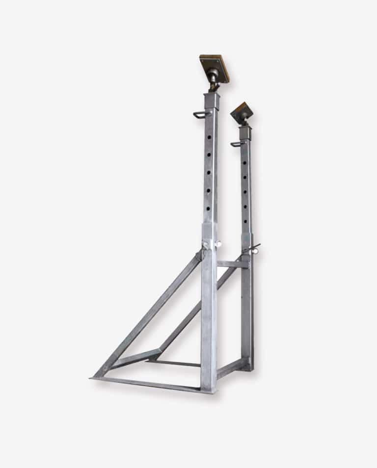 Soutien vertical double télescopique