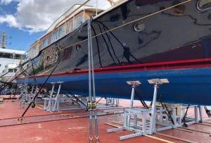 Modulo per il trasporto su navi di barche a motore di medie grandi dimensioni